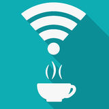 Icon of Wi-Fi with shadow Royalty Free Stock Images