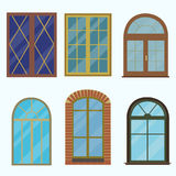Icon of a window in a fashionable flat style. Isolated on a white background Royalty Free Stock Images