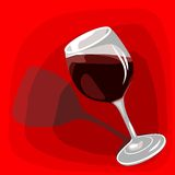 Icon with wine Stock Photography