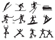 Icon of winter sports. Stock Image