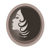 Icon of woman Royalty Free Stock Photography