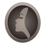 Icon of woman Stock Image