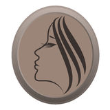 Icon of woman Stock Images