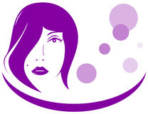 Icon with woman face Royalty Free Stock Photography