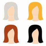Icon women. Internet icon women on a white background Stock Photo