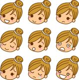 Icon of women\'s expression. This is an icon of women\'s expression Royalty Free Stock Images