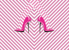 Icon women's shoe. High heels. Stock Image