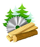 Icon for woodworking industry. Illustration isolated on white background. Gradient mesh used Royalty Free Stock Photos