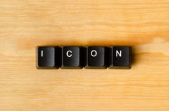 Icon word Stock Photo