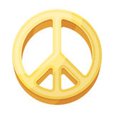 The icon of the world.Hippy single icon in cartoon style vector symbol stock illustration web. Stock Image