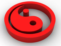 Icon Ying and Yang. 3d Stock Images