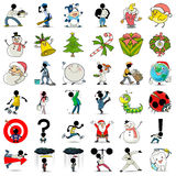 icona 1 di azione dei 36 fumetti Fotografie Stock
