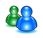 Icona 2 della gente di Msn illustrazione di stock
