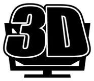 icona 3DTV royalty illustrazione gratis