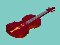 Icona acustica classica isometrica del violino illustrazione di stock