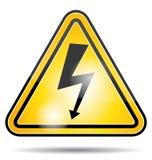 Icona ad alta tensione di elettricità Fotografia Stock Libera da Diritti