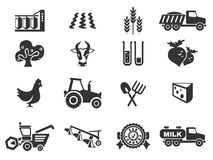 Icona agricola Fotografia Stock Libera da Diritti