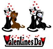 Icona al giorno del biglietto di S. Valentino Fotografia Stock