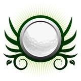 Icona alata della sfera di golf Fotografia Stock Libera da Diritti