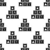icona alfabetica dei cubi Elemento dell'icona del bambino per i apps mobili di web e di concetto Icona alfabetica senza cuciture  illustrazione di stock