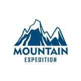 Icona alpina di vettore di sport di spedizione della montagna Immagine Stock