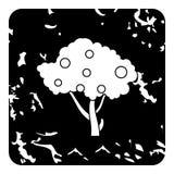 Icona alta dell'albero da frutto, stile di lerciume Immagine Stock