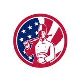 Icona americana della bandiera di U.S.A. del panettiere Immagini Stock Libere da Diritti