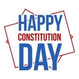 Icona americana di logo di giorno di costituzione, stile piano Immagine Stock