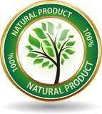 Icona amichevole del sito Web di eco del prodotto naturale Fotografia Stock Libera da Diritti