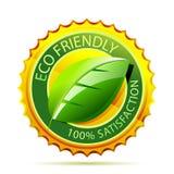 Icona amichevole dell'oro di Eco Fotografie Stock
