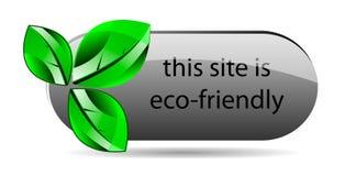 Icona amichevole di Web site di Eco Immagini Stock Libere da Diritti