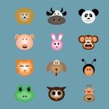 Icona animale del fronte  Fotografia Stock Libera da Diritti