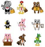 Icona animale dell'operaio del fumetto Immagine Stock Libera da Diritti