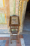 Icona antica all'entrata alla chiesa ortodossa principale nel monastero della Bulgaria Troyan Immagini Stock