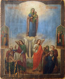 Icona antica del sepulcher santo. Fotografie Stock