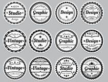 Icona antiquata piacevole stabilita Fotografia Stock