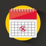 Icona app del calendario Immagine Stock Libera da Diritti