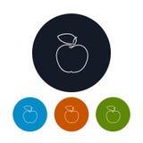 Icona Apple nei contorni Immagine Stock Libera da Diritti