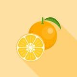 Icona arancio Fotografia Stock Libera da Diritti