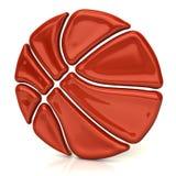 Icona arancio della palla del canestro Fotografie Stock Libere da Diritti