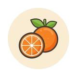 Icona arancio di vettore del fumetto Fotografie Stock