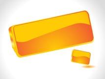 Icona arancione lucida astratta 3d Fotografie Stock Libere da Diritti