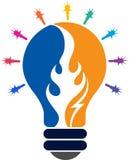 Icona ardente della lampada Fotografie Stock Libere da Diritti