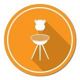 Icona arrostita del pollo Immagine Stock