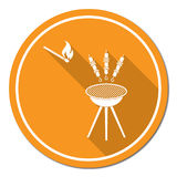 Icona arrostita di kebab Immagini Stock Libere da Diritti