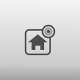 Icona asciutta della casa Fotografia Stock