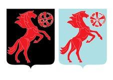 Icona astratta del cavallo Fotografia Stock