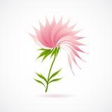 Icona astratta del fiore di loto isolata su bianco Fotografie Stock