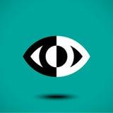 Icona astratta dell'occhio Fotografie Stock