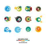 Icona astratta di progettazione di colore della molecola del DNA di vettore Immagine Stock